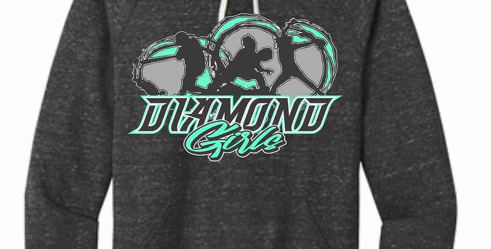 Diamond Girl Black Soft Snow Heather Hood