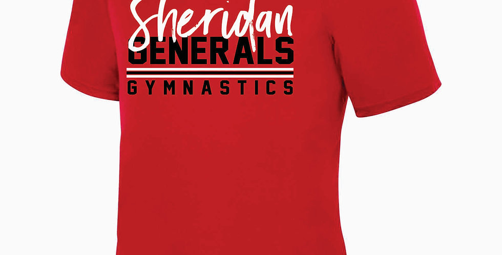Sheridan Gymnastics Red Dri Fit Shortsleeve