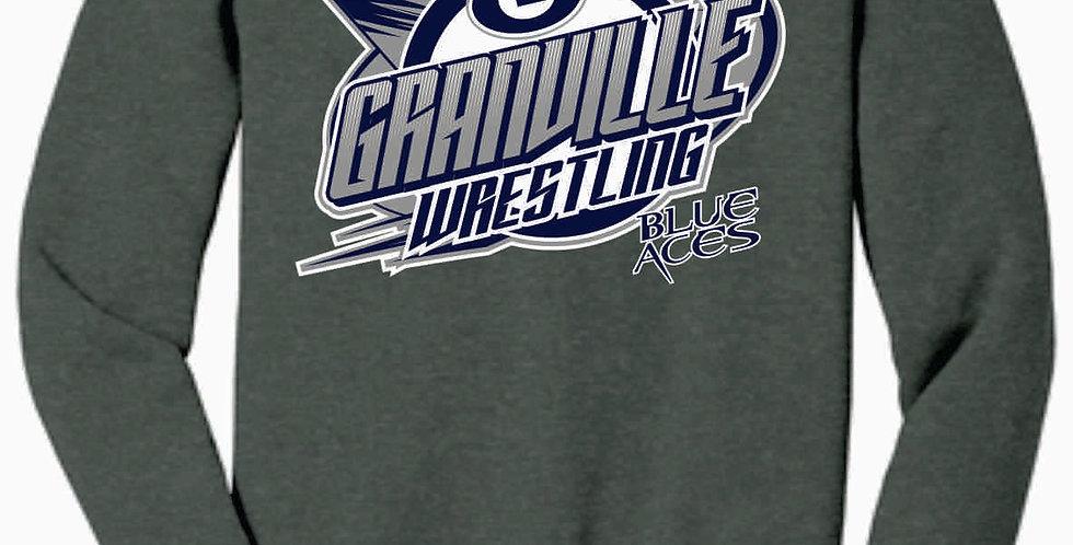Granville Wrestling Soft Grey Crewneck