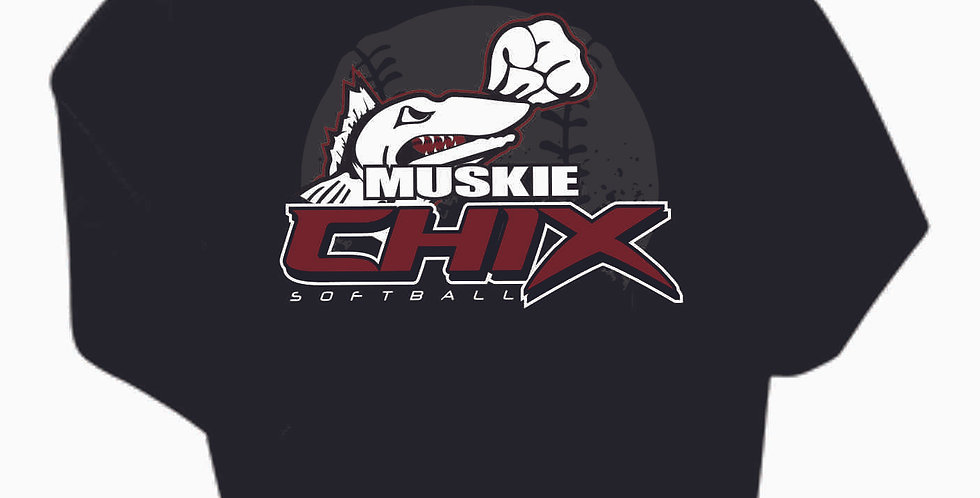 Muskie Chix Black Cotton Hoody