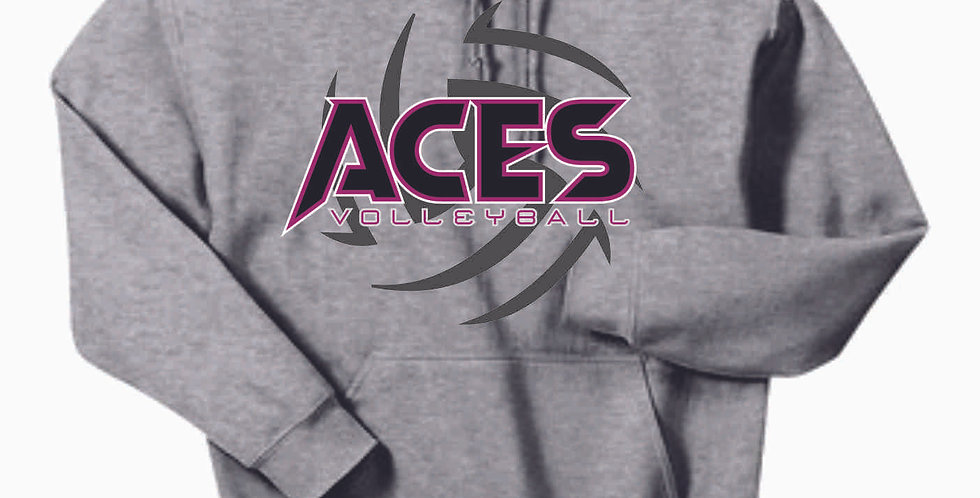 Aces Volleyball Grey Cotton Hoody