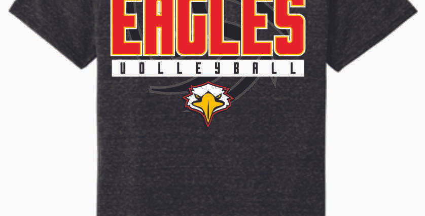 LCCA Black Volleyball Soft T Shirt