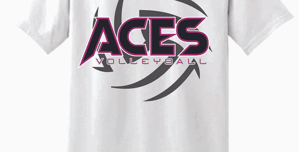Aces Volleyball White T Shirt