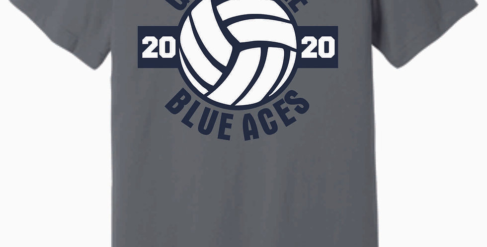 Granville Volleyball Storm Grey Soft T