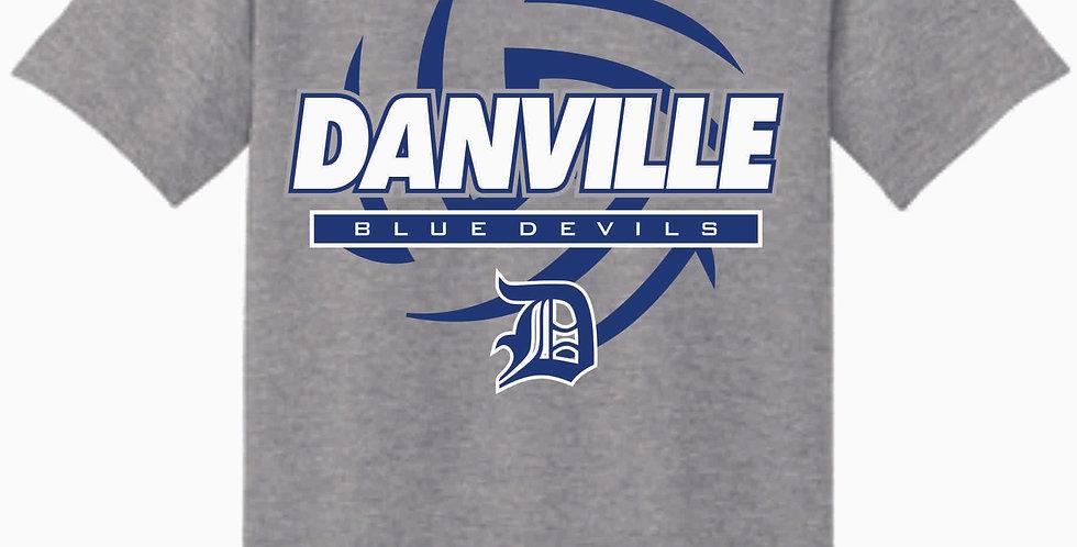 Danville Volleyball Grey Cotton T Shirt