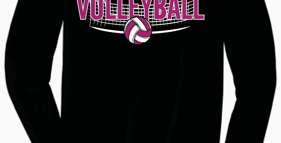 Aces Volleyball Bella Canvas Soft Cotton Black Longsleeve