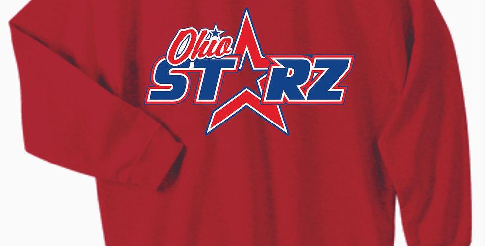 Ohio Starz Red Logo Cotton Crew