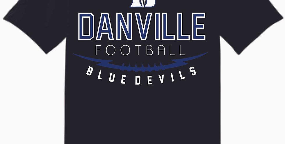 Danville Football Black Cotton T Shirt
