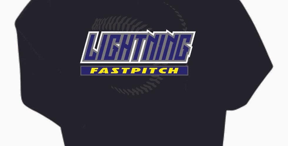 Lightning Black Cotton Hoody