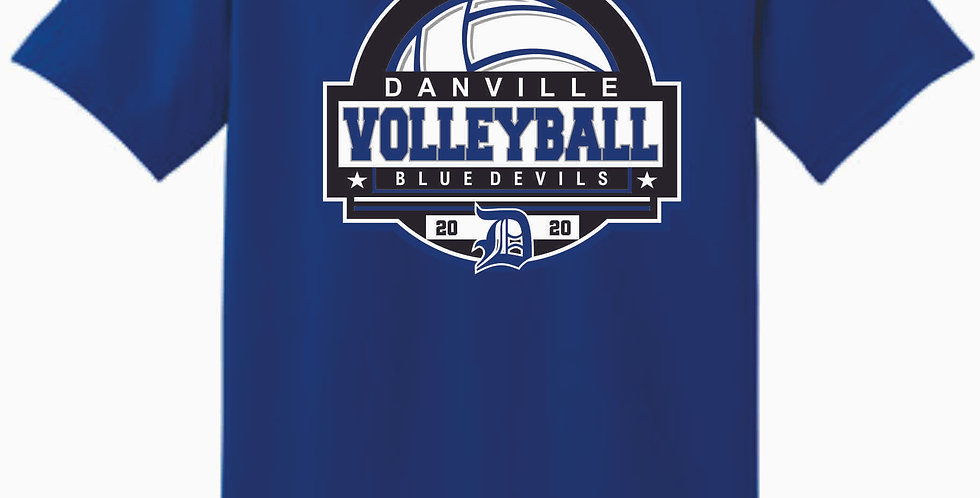 Danville Volleyball Royal Cotton T Shirt