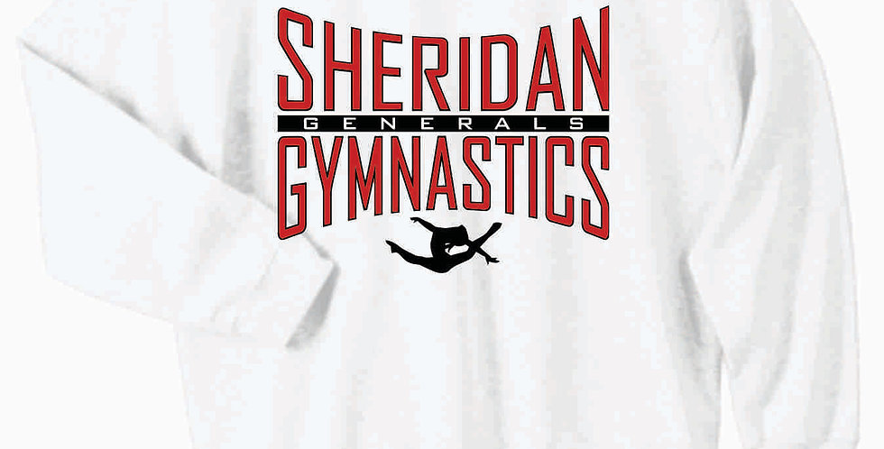 Sheridan Gymnastics Gildan Cotton White Crewneck