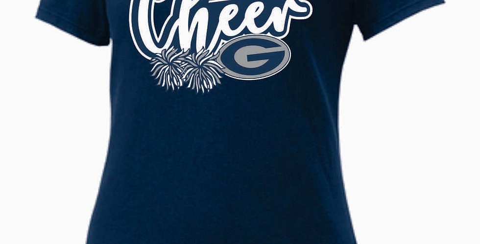 GHS Nike Cheer Navy Ladies Core Cotton Scoop Neck Tee