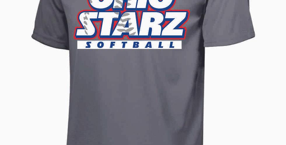 Ohio Starz Grey Dri Fit Shortsleeve