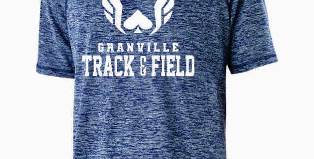 Granville Track and Field Navy Original Dri Fit Shortsleeve