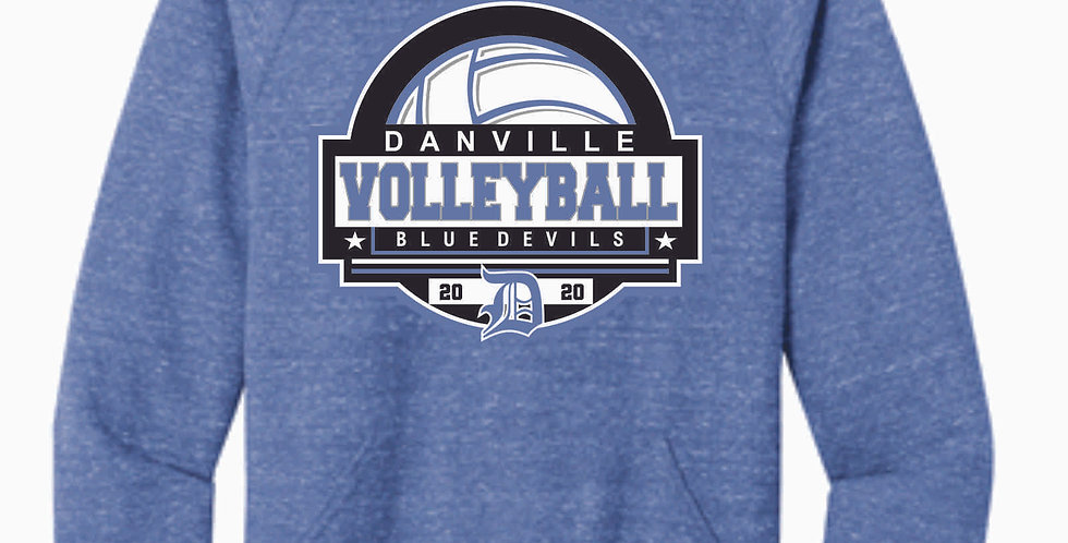 Danville Volleyball Royal Snow Heather Hood