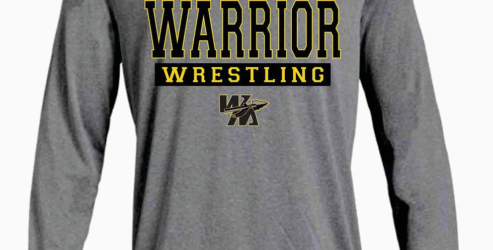 Watkins Youth Wrestling Under Armour Grey Dri Fit Longsleeve