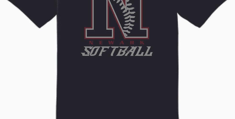 Newark Softball Black Cotton T Shirt