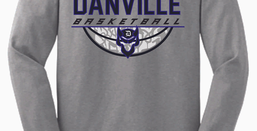 Danville Basketball Grey Cotton Longsleeve Tee