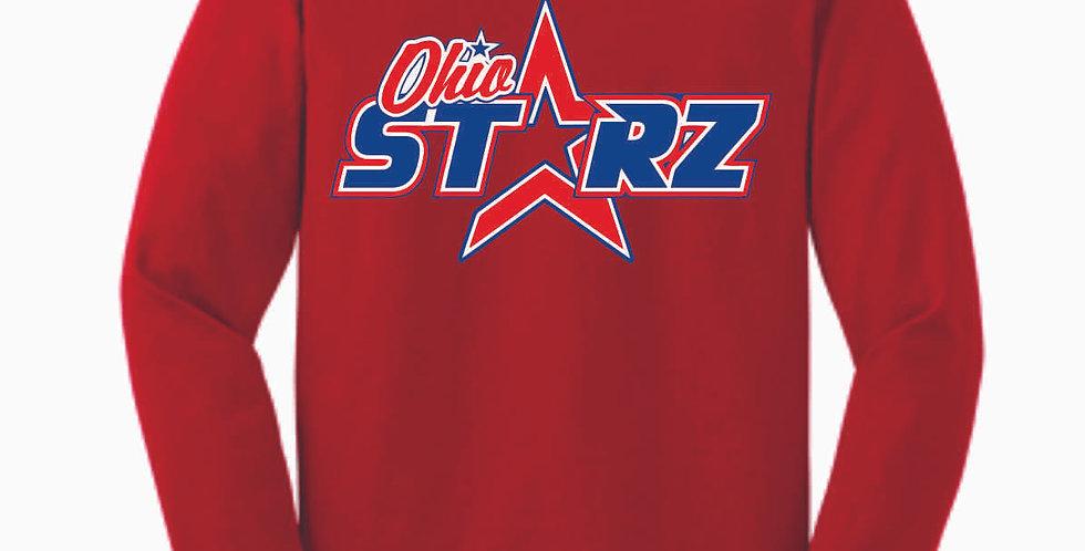 Ohio Starz Red Logo Cotton Longsleeve