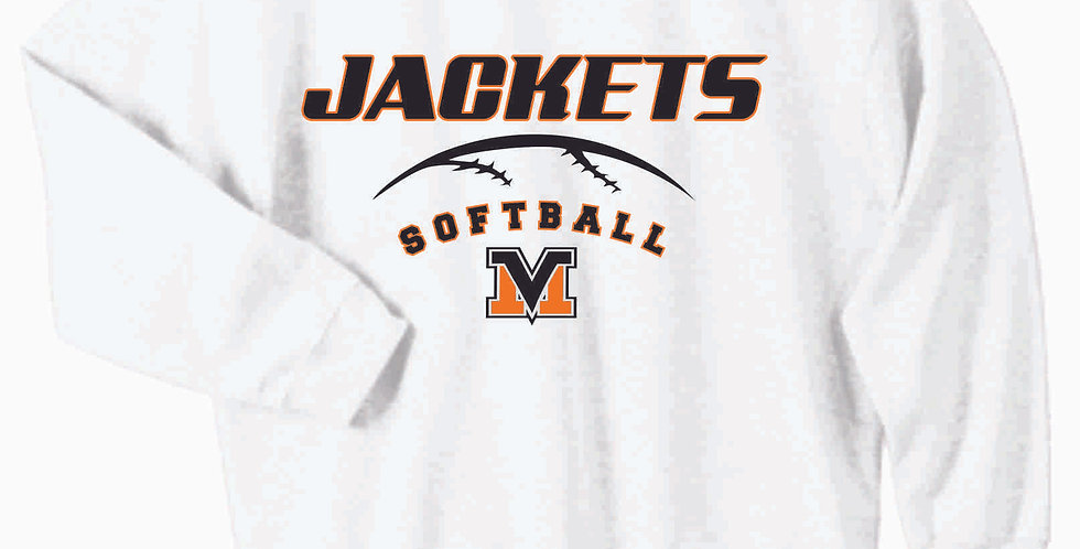Mount Vernon Softball White Cotton Crewneck