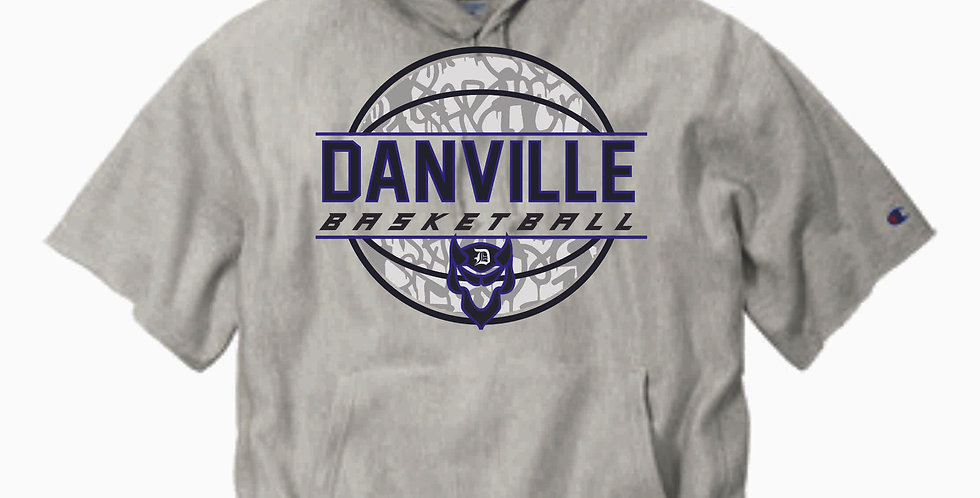 Danville Basketball Shortsleeve Hooded Sweatshirt