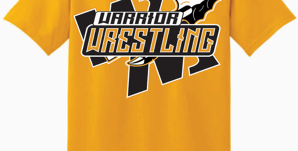Watkins Youth Wrestling Gildan Cotton Gold Mom T Shirt