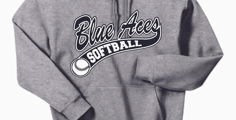 Granville Softball Grey Cotton Hoody