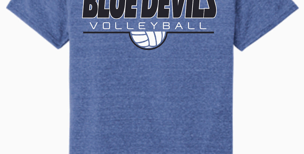 Danville Volleyball Royal Simple Soft Jerzee Snow Heather Tee