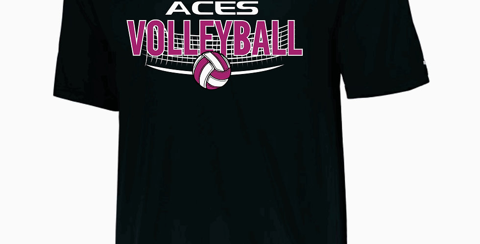 Aces Volleyball Augusta Black Practice Dri Fit Shortsleeve