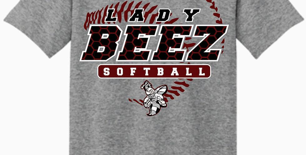 Lady Beez Gildan Cotton Grey T Shirt