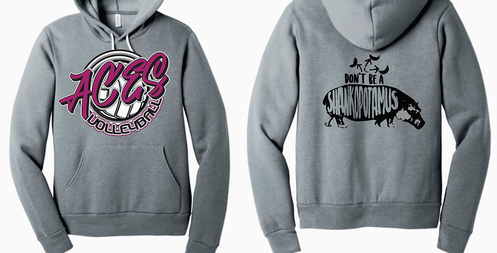 Aces Volleyball Grey Bella Canvas Shankopotomus Soft Hoody