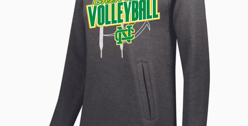 NC Volleyball Grey Ladies Hoody