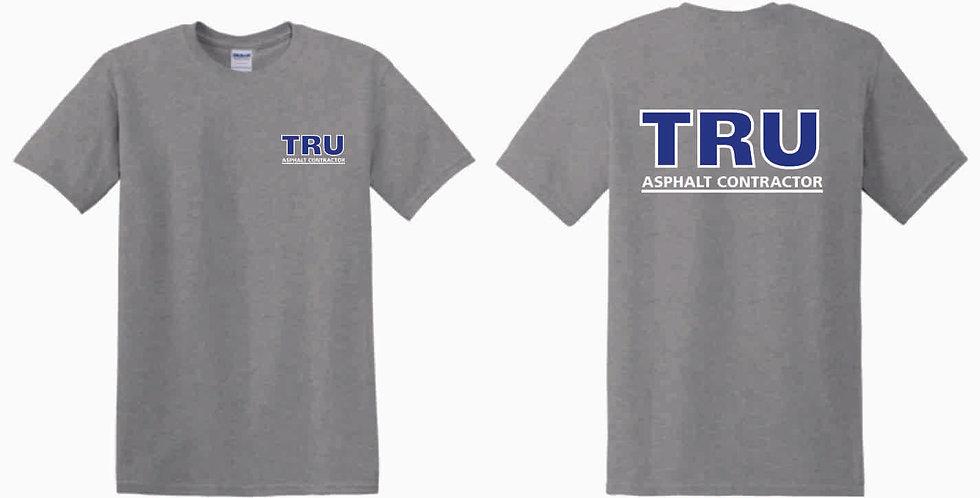 Tru Asphalt Heavy Blend Cotton T Shirt