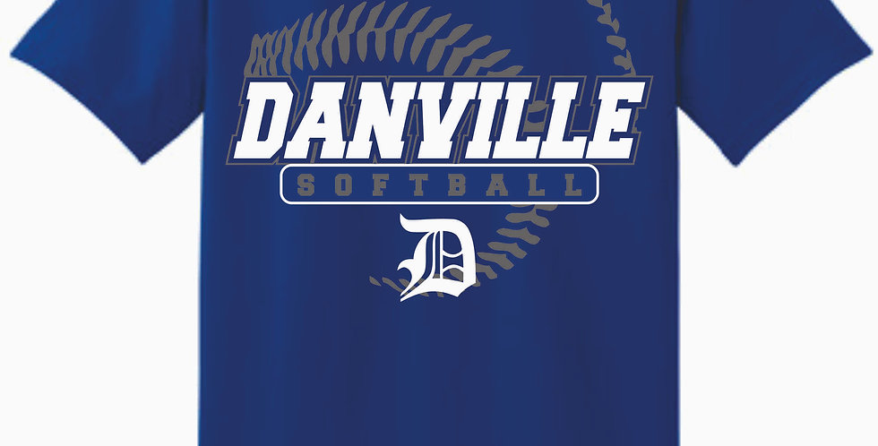 Danville Softball Royal Cotton T Shirt