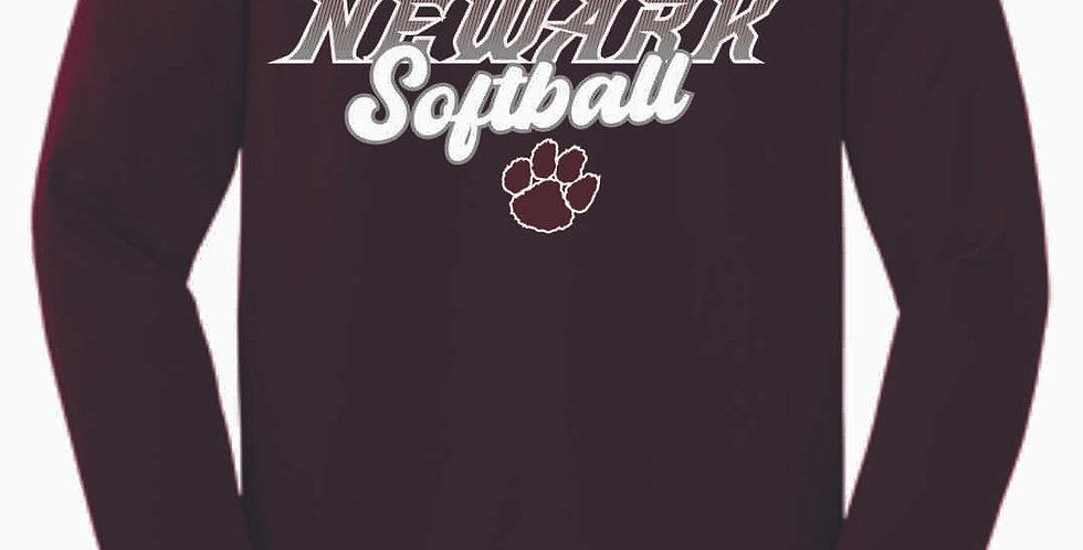 Newark Softball Maroon Cotton Longsleeve Tee