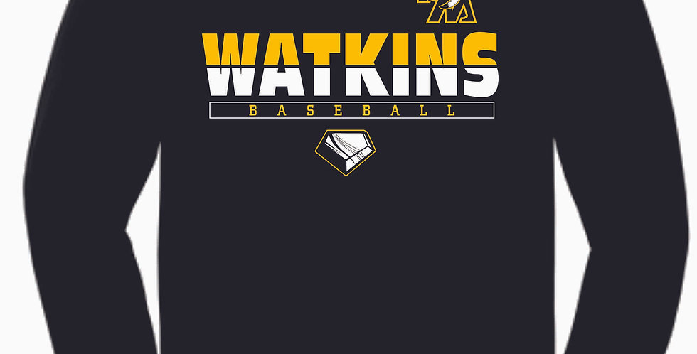 SWL Baseball Black Watkins Cotton Longsleeve T Shirt