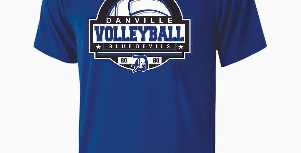 Danville Volleyball Royal Shortsleeve Dri Fit