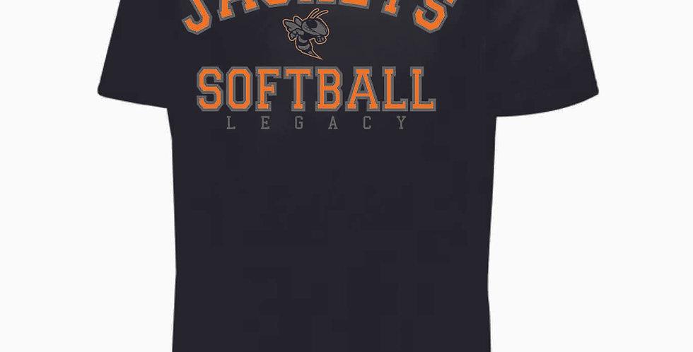 Mount Vernon Softball Simple Black Shortsleeve Dri Fit