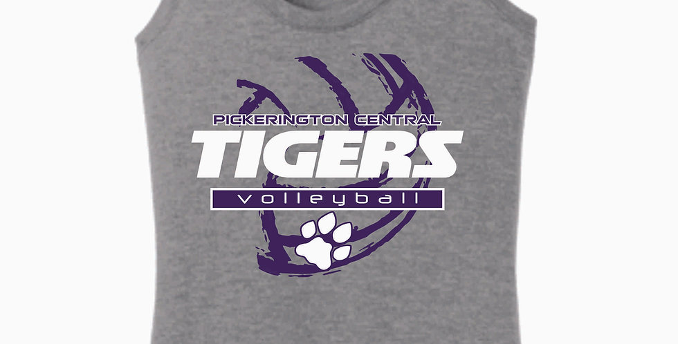 Tiger Volleyball Grey Ball Women's Tank