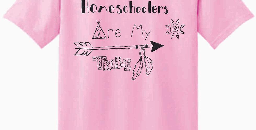 Homeschool My Tribe Lt Pink T Shirt