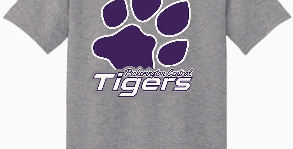 Tiger Paw Print Cotton T Shirt