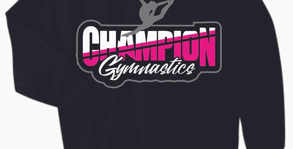 Champion Gymnastics Black Cotton Crew