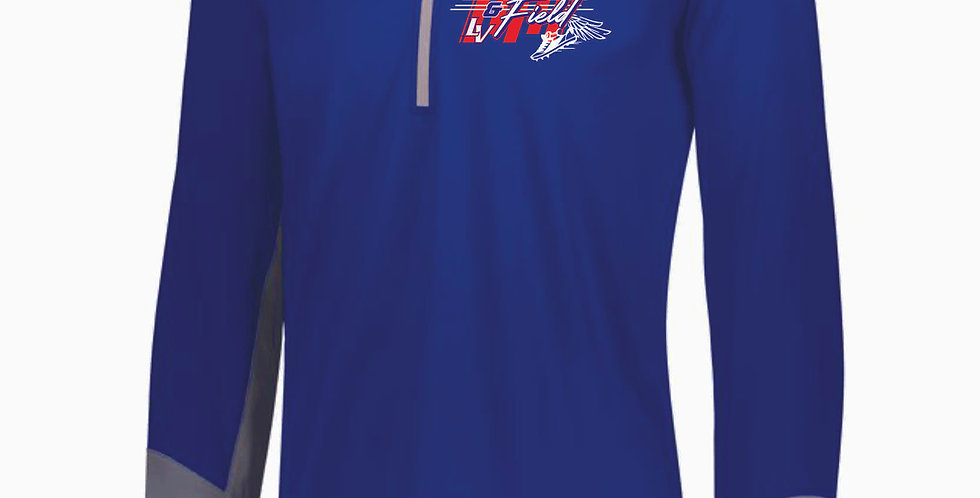Licking Valley Track and Field Royal Russell 1/4 Zip Pullover