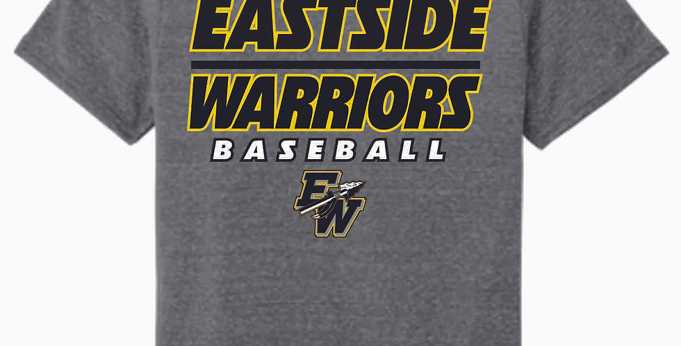 Eastside Warriors Grey Jerzee Snow Heather Black T shirt