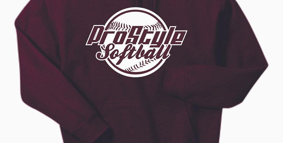 Newark Youth Softball ProStyle Maroon Cotton Hoody