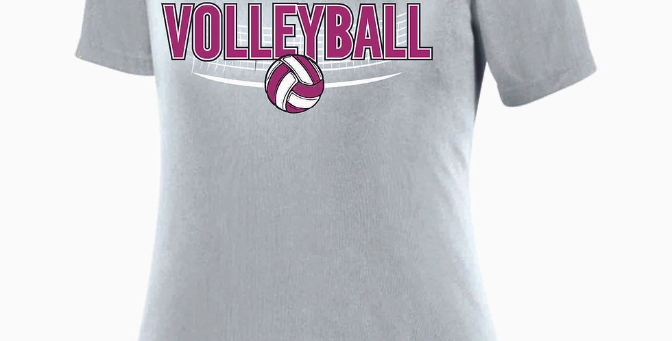 Aces Volleyball Original Grey Women's V Neck Poly Tee