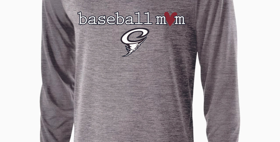 Cyclones Grey Mom Dri Fit Longsleeve