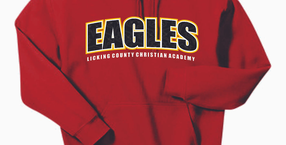 LCCA Red Eagles Cotton Hoody