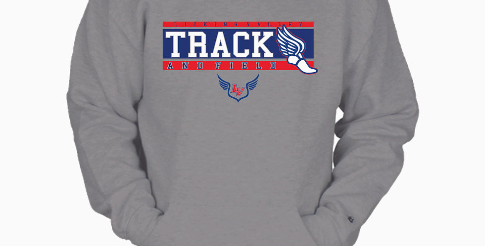 Licking Valley Track Grey Cotton Crew with Pocket