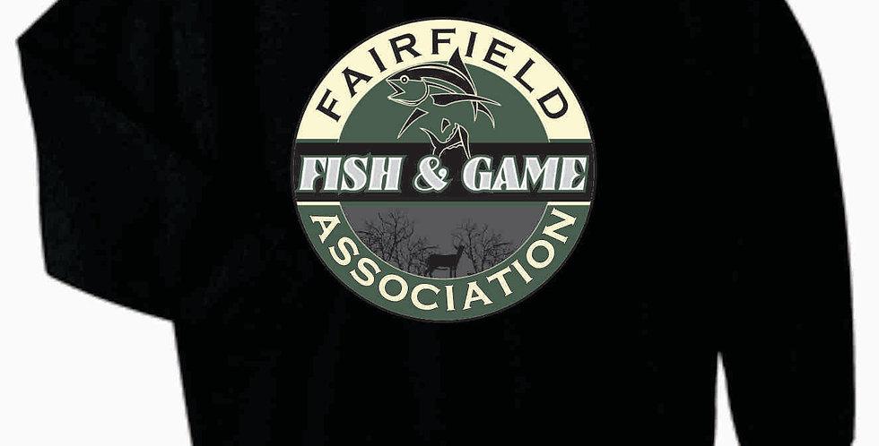 Fairfield Fish and Game Black Gildan Cotton Grey Longsleeve